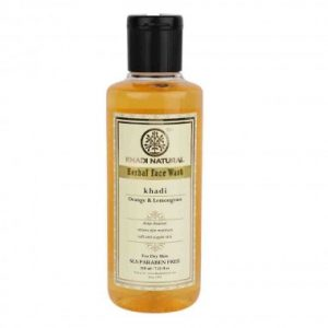 Orange & Lemongrass Face Wash With Scrub (SLS & Paraben Free)-210ML